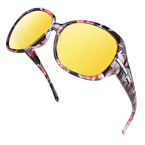 GQUEEN HD Nachtsichtbrille Autofahren Damen Blendschutz Polarisierte Linsen