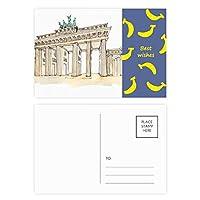 東部ドイツのブランデンブルグのドア バナナのポストカードセットサンクスカード郵送側20個
