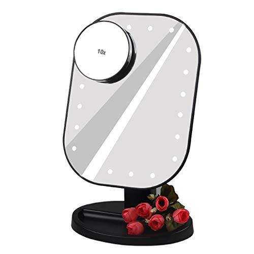 Miroir De Maquillage à LED De Bureau avec LumièRe D'Appoint 10 Fois Loupe Miroir De Maquillage Beauté Tactile RéGlable LumièRe Intelligente