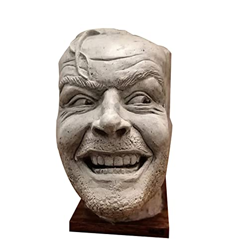 Wollaston Scultura della libreria lucida di fermalibri qui ist Johnny Sculpture Resin Desktop Sculpture of The Shining Bookend Library Here?s Johnny Sculpture,18 x 11 x 11 cm