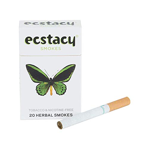 Ecstacy Herbal Cigarettes   Nicotine Free Cigarettes   1 Pack(20single) of Tobacco Free Smokes (White)