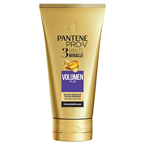 Pantene Pro-V Volumen Pur 3 Minute Miracle Pflegespülung, 150ml,  Conditioner, Haarpflege Glanz, Volumen Conditioner, Verleiht dem Haar Volumen, für Sichtbar Gesünderes Haar