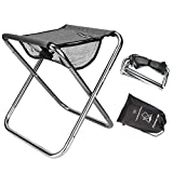 Folding Fishing Stool,Lightweight Camping Stools,Collapsible Portable Compact Travel Stools Fold Camp Chair Stool for Walking Hiking Hunting