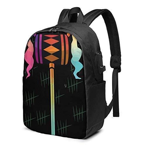 IUBBKI Bolsa para computadora mochila USB Bird-S Of Pr-Ey 17 Inch Laptop Backpack For Men & Women,Travel/School Backpack With Usb Charging Port & Headphone Interface