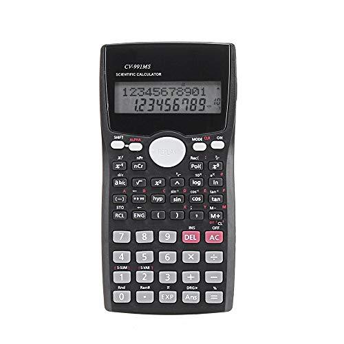 Zhengowen Calculadora Calculadora Científica LCD Cálculo con Pilas de la calculadora Número Digital calculadoras básico (Color : Black, Size : One Size)