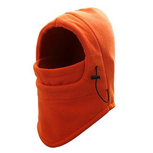 Pasamontañas Invierno Fossen Balaclava Térmico Fleece Máscara para Ciclismo Moto Deportes Ski para Hombre Mujer (Naranja)