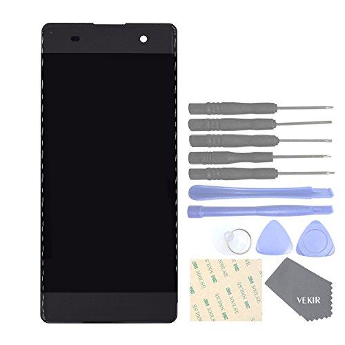 VEKIR Repuestos de teléfonos celulares para Sony Xperia XA F3111 XA Dual F3112 Pantalla Completa Pantalla táctil digitalizador [SIN Marco de Pantalla](Graphite Black)