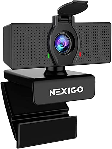 1080P Web Camera, HD Webcam with Microphone & Privacy Cover, 2021 NexiGo N60 USB Computer Camera, 110-degree Wide Angle, Plug and Play, for Zoom/Skype/Teams/OBS, Conferencing and Video Calling