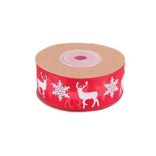 VALICLUD Cinta de Árbol de Navidad Regalo de Poliéster Decoración de Fiesta Cinta de Envoltura Artesanal Cinta de Ajuste Conjunto de Cinta para Envolver Paquetes 10 M