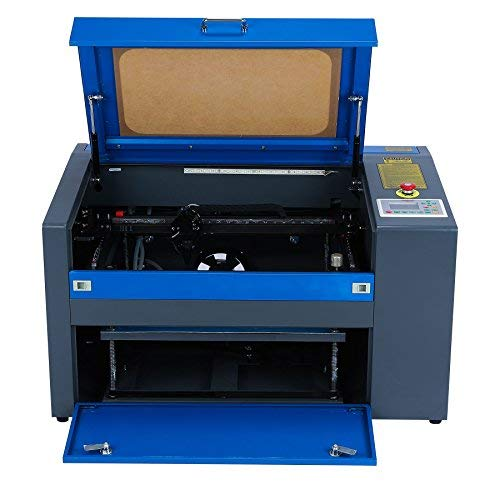 50W CO2 Laser Engraver Cutter Machine 12 x 20 Inch Engraving/Cutting Area with Rotary Axis and USB Port, Red Dot Pointer, Air Compressor, for Wood Acrylic Plastic Glass Etc, Includes PC Software