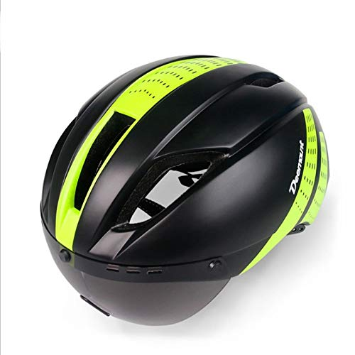 TITST Casco de Ciclismo para Adultos con Gafas Protectoras, Cascos de MTB...