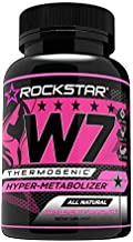 W7 Thermogenic Fat Burner, Weight Loss Pills for Women, Diet Pills by Rockstar, Carb Block & Appetite Suppressant, 60 Count