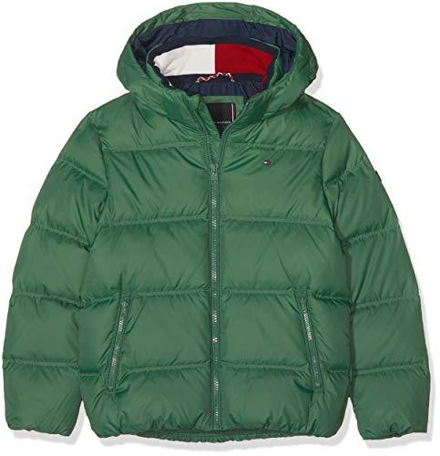 Tommy Hilfiger Jungen Essential Basic DOWN Jacket Jacke, Grün (Hunter Green 395), 152 (Herstellergröße: 12)