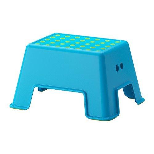 Ikea BOLMEN Badezimmerhocker in blau