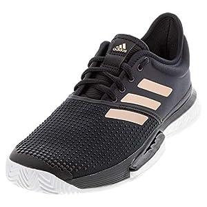adidas Men's Solecourt Tennis Shoe, Black/White/Copper, 7.5