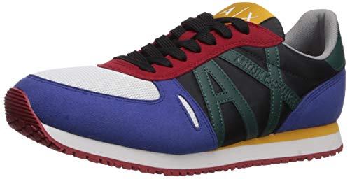A|X Armani Exchange Herren Retro Running Sneaker Turnschuh, Mehrfarbig, 38 EU