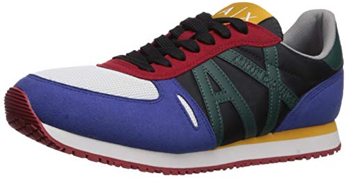A|X Armani Exchange Retro Running Sneaker, Zapatillas Deportivas. para Hombre, Multicolor, 39.5 EU