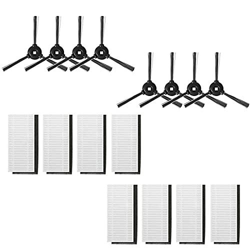 GYing per Lefant 8 spazzole laterali e 8 filtri Hepa kit accessori T700 M201 M501-A/M501-B/M520 M301 T800 robot aspirapolvere pezzo di ricambio