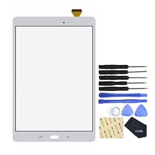 VEKIR Pantalla táctil de reparación de Vidrio para Samsung Galaxy Tab A 9.7 T550 (Blanco)