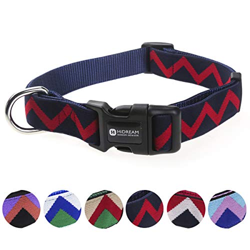 Hidream Classical Rainbow Adjustable Dog Collar