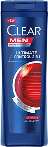 3x400ml Clear Men Shampoo Anti-Schuppen Ultimate 2in1 Ultimate Control ,Shampoo & Conditioner mit Aminosäuren, für Männer, Sparpack