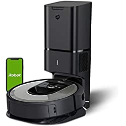 iRobot Roomba i7+ (i7556) - Robot Aspirador con Vaciado automático, aspiración de Alta Potencia y 2 cepillos + Echo Dot (3.ª generación) - Altavoz Inteligente con Alexa, Tela de Color Antracita: Amazon.es: Hogar