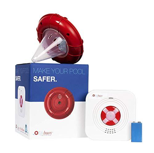 Lifebuoy Sistema de Alarma para Piscina Inteligente controlada por App - Potente Sirena - No Requiere instalación
