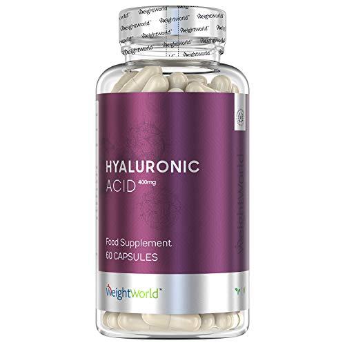 Premium Hyaluronsäure Kapseln - Hochdosiert Hyaluron Kapseln für Knochen, Gelenke, Haare - 700-900kDa - Anti Aging gegen Falten - Zutaten Laborgeprüft ohne Zusätze - Vegan