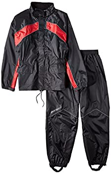 Joe Rocket 1010-1107 RS-2 Men s Motorcycle Rain Suit  Black/Red XXX-Large