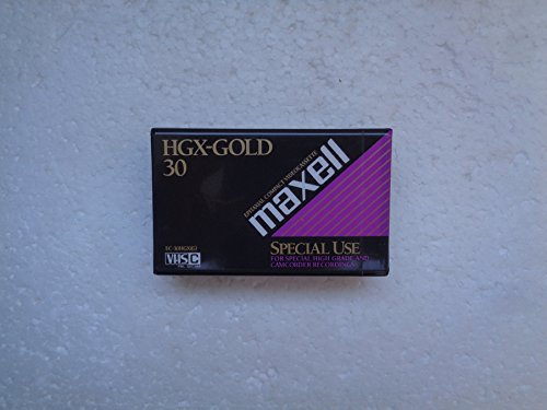 Discover Bargain MAXELL VHSC HGX-Gold 30