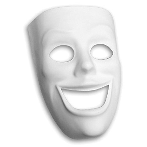Creativity Street Masque en Plastique 8 x 7-inch-Happy Visage