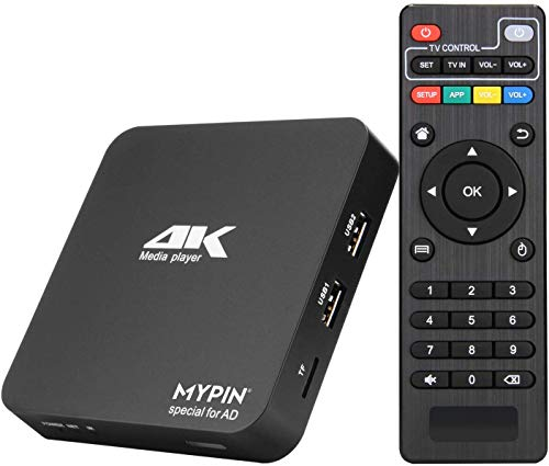 MYPIN - Lettore digitale multimediale, lettore multimediale HDMI Mini HD TV USB 4K HDMI   AV PPT MKV AVI RMVB RM per HDTV con telecomando