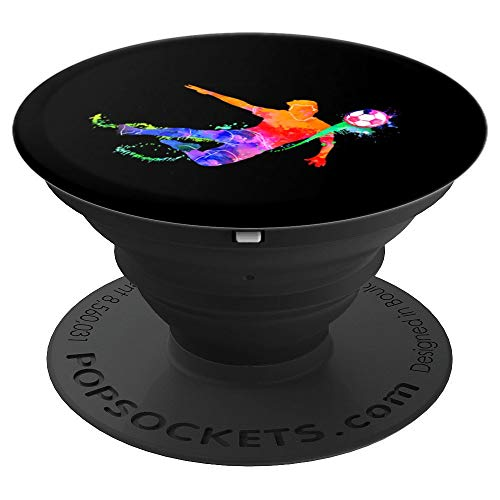 Geschenk für Fussballer Fussball Spieler Mannschaft - PopSockets Ausziehbarer Sockel und Griff für Smartphones und Tablets