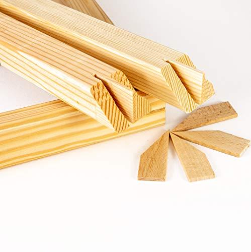 Generisch Keilrahmenleisten Bausatz Holzleisten Set selbst zusammenbauen ohne Leinwand 42x30 Standard Profi Leisten (40 x 50)
