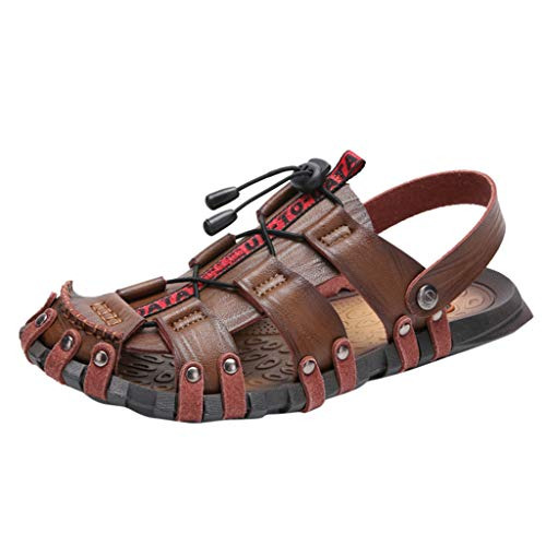 Severkill Sandals for Men Waterproof Closed Toe Water Shoes Mules Slip on Sandals for Sport Hiking Outdoor Summer Beach Khaki