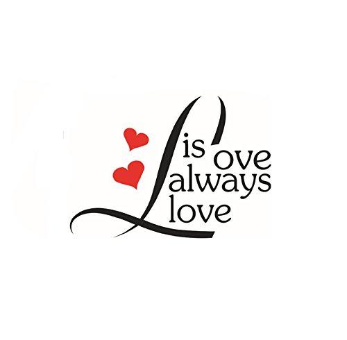 CAOLATOR Créatif Stickers Muraux PVC Tapeten Décoration Sticker Mural Salon Muraux DIY Décalcomanies Lettres Design Chambre Autocollants (Love)