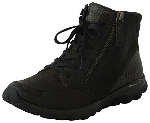 Gabor Comfort Rollingsoft 36.953.80 Damen Stiefel/Stiefelette (Schnürboots/Boots) Leder Grau, EU 38