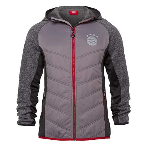FC Bayern München Herren Hybridjacke, Grau, Gr.- XL