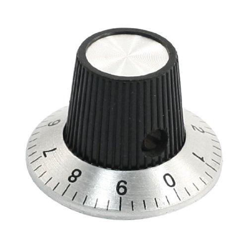sourcing map Verstellbar Drehung 15mm ober Drehknopf Skala für 6mm OD Schaft Potentiometer de DE de
