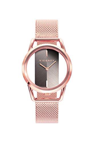 Viceroy Damen Analog Quarz Smart Watch Armbanduhr mit Edelstahl Armband 42334-47
