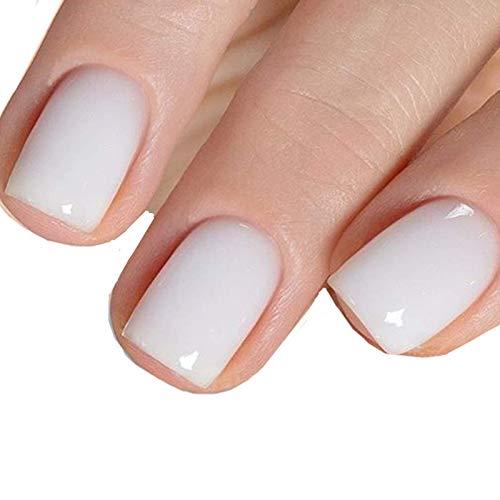 MEMEDA Gel Nail Polish, Milky White Nude Gel Polish, 0.27 fl oz