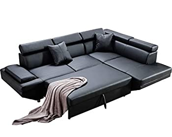 Sofa Couches Sofa Sofa Bed with 2 Piece Faux Leather Queen Modern Contemporary Sofa for Living Room Sectional Sofa Sleeper Sofa Modern Sofa Corner Sofa Futon Sofa Bed Couches