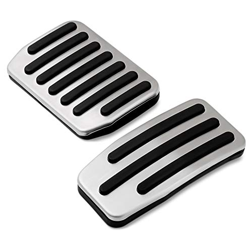 Non Slip Performance Foot Pedal Pads Auto Aluminum Pedal Covers Fit for Tesla Model 3 Tesla Model Y Accessories Set of 2