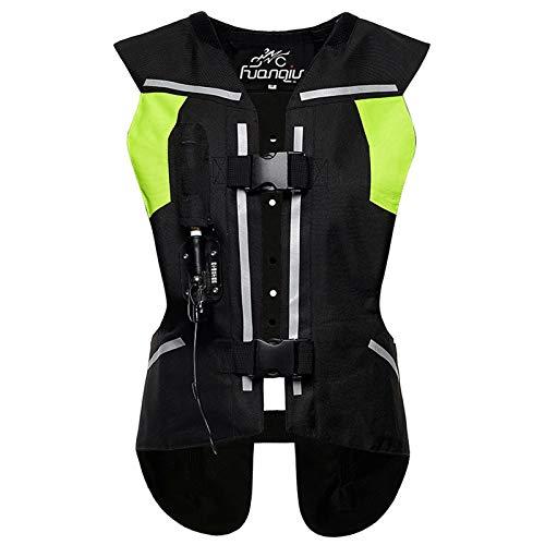 Moto Airbag Chaleco Protector del,Resistente Al Desgaste Y Duradero,Suave Y Confortable,Chaleco Airbag con Tira Reflectante para Motocross