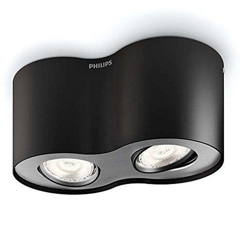 Philips 533023016 Phase Luminaire d'Intérieur Spot LED Métal Noir 4,5 W