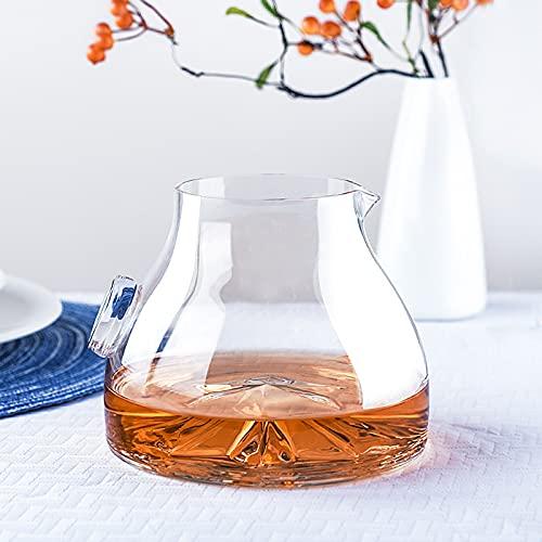 Caraffa di vino rosso Decantatore di vetro di terracotta 50OZ Adatto per liquori scotch whisky bourbon whisky vodka-1400ml Decantatore di vino Set di vetro senza piombo winware Aeratore del de decanta