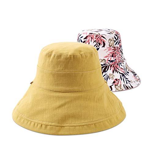 DORRISO Pescador Sombreros Mujer Protección UV Turismo Playa Pescar Vacaciones Montañismo Visera Sombrero Algodón