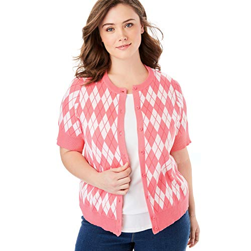 Argyle Cardigan Sweater - 1