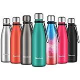 Newdora Botella de Agua Acero Inoxidable 500ml,...