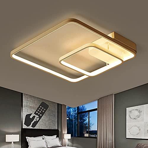sgvaga Lámpara de techo LED con dos marcos de luz, moderna, regulable, 3000 – 6500 K, lámpara de techo para dormitorio, con mando a distancia, para estudio, comedor, salón